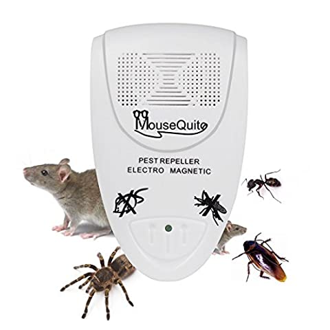 Ultrasonic Pest Repellent Electronic Plug In , Advanced Technology Indoor Pest Control, Effective Device Against Rats Mice Spiders Rodents Roaches Mosquitoes Ants & Insects , Children and Pet (Raid Roach Bombs)