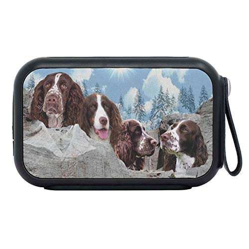 (English Springer Spaniel Dog On Mount Rushmore Print Bluetooth Speaker (English Springer Spaniel Dog On Mount Rushmore Print Bluetooth Speaker) )