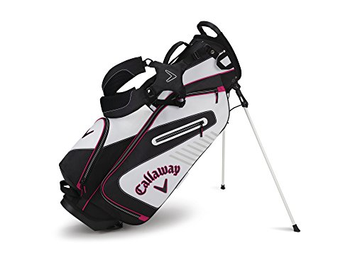 Callaway Golf 2017 Capital Stand Bag, White/Black/Pink