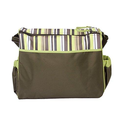 yeah67886Mono multifuncional impermeable momia pañal bolso cambiador (verde)