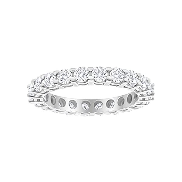 1-Carat-ctw-14K-White-Gold-Round-Diamond-Ladies-Eternity-Wedding-Anniversary-Stackable-Ring-Band-Value-Collection