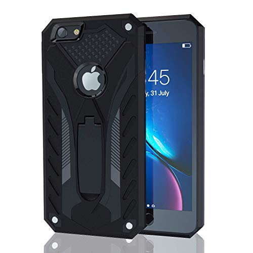 Kitoo Designed for iPhone 6 Case/Designed for iPhone 6S Case with Kickstand, Military Grade 12ft. Drop Tested – Black