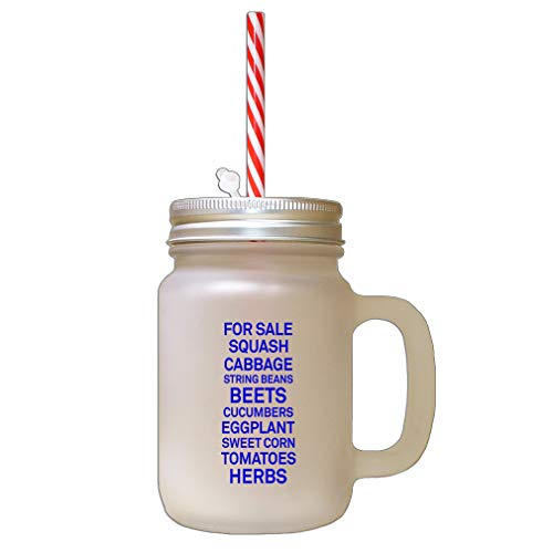 Royal Blue For Sale Cabbage Beets Herbs Frosted Glass Mason Jar With Straw