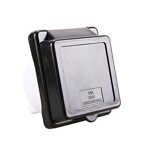 Epicord 30A RV Power Twist Lock Inlet (black) ()