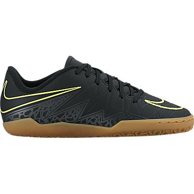 Nike Kids HypervenomX Phelon II Indoor Black/Black/Volt Shoes - 10.5C