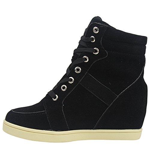 Suédé Compensées Casual Chaussure Montante Femme Sneaker wealsex Basket 48w5Sxq8P