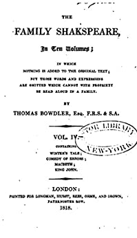 The Family Shakspeare by [Bowdler, Thomas]