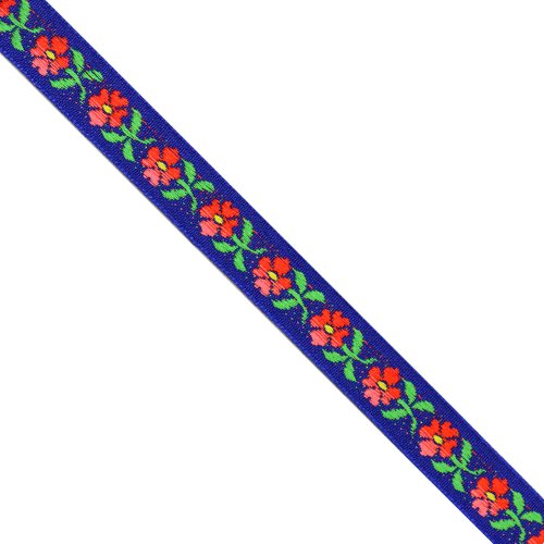 Floral Woven Ribbon (5 yards 1/2