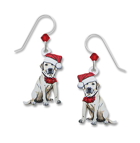 Sienna Sky UV-Printed Santa Hat Labrador Dog Holiday Earrings 1983