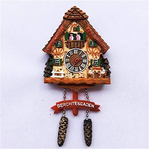 Refrigerator Magnets Resin 3D Funny Black Forest Cuckoo Clock Germany City Tourist Souvenirs Fridge Stickers Magnetic Fridge Magnet for Whiteboard Home Kitchen Decoration Accessories Arts Crafts Gifts]()