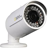 Q-See QCA8045B 1080P HD CAMERA White 80 Night Vision w/60ft BNC Cable
