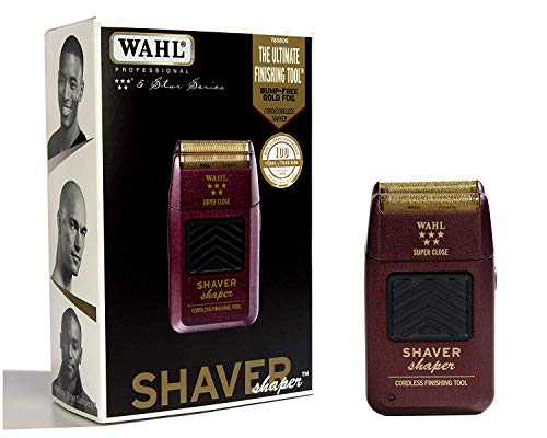 Wahl Professional 5-Star Series Rechargeable Shaver/Shaper #8061-100 - Up to 60 Minutes of Run Time - Bump-Free, Ultra-Close ()