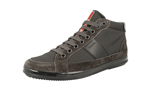 Prada Mens 4t2878 Oqt F0207 Läder Sneaker