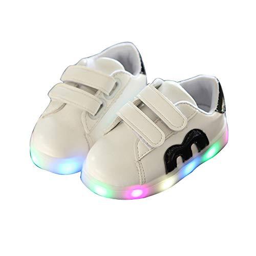 edv0d2v266 Kids Children Charge Led Boys Girls Light up Sneakers Flat Shoes Trainer(Black 22/5.5MUSToddler) by edv0d2v266