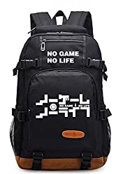 Gumstyle No Game No Life Luminous School Bag College Backpack Bookbags Student Laptop Bags