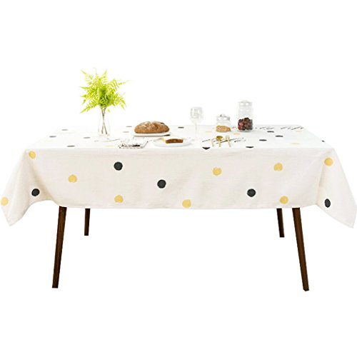 SN Tablecloth, Cotton and Linen Rectangle Square Simple Durable Suitable for Restaurants/Hotels/Cafes/Inns (Size : 140220cm)