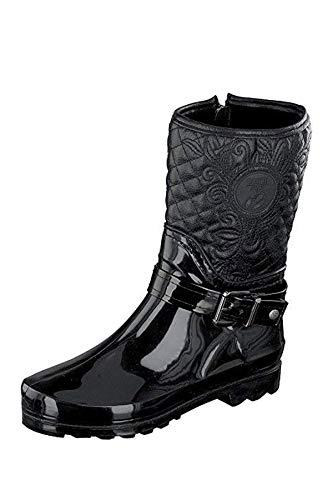 Para Zapatos 39 Mujer Talla Negro Eu Negro Cordones Caucho Color Gosch Shoes De 6wXXq