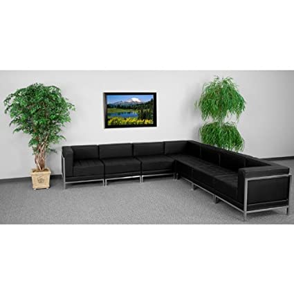Amazon.com: UTMOST FURNITURE 7pc Modern Leather Office ...