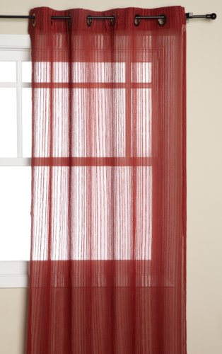 Regal Home Avalon 54-Inch by 84-Inch Grommet Textured Stripe Window Panel, Spice Review