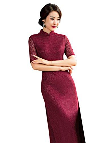 Baymate Damen Elegant Chinesisch Hochzeit Kleid Cheongsam Qipao ...