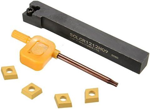 Queenwind SCLCR1212H09 12x100mm の CCMT09T3 の挿入物およびレンチが付いている外的な回転用具のホールダー