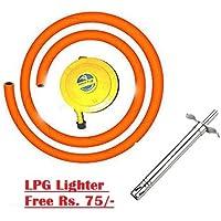 PrinceTraderes Bharatgas, Regulator + Hose Pipe + Free Lighter