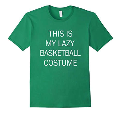 [Mens This Is My Lazy Basketball Costume Large Kelly Green] (Simple Soccer Player Costume)