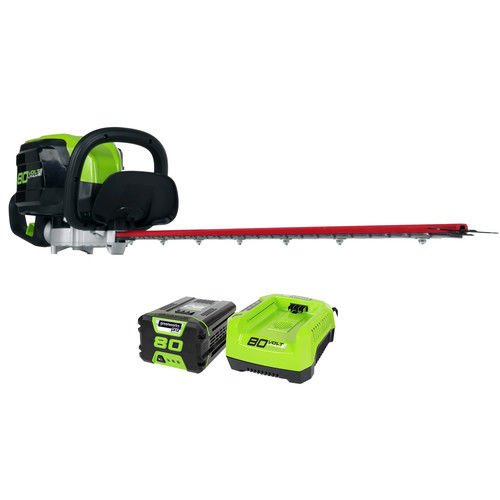 (Ship from USA) Greenworks 22372 80V Cordless Li-Ion 24'' Hedge Trimmer Kit GHT80321 New /ITEM NO#I-86/Q-UI754365866 by Greenworks