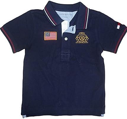 Tommy Hilfiger Niños Polo Camiseta de Estados Unidos Bandera Azul ...