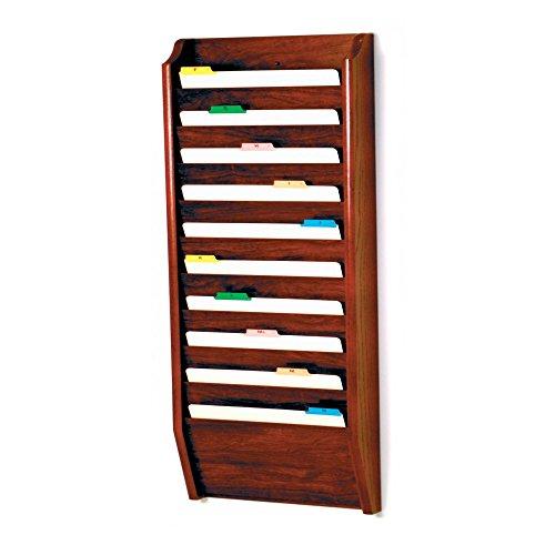 (Wooden Mallet 10-Pocket File Holder, Legal Size, Mahogany)