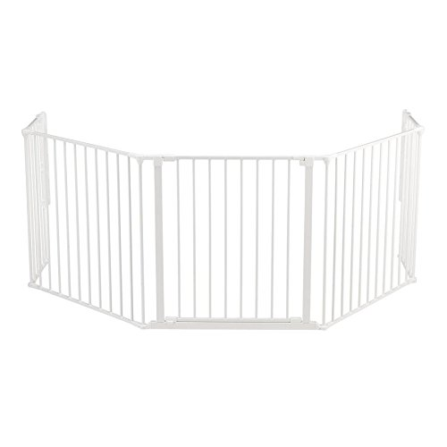BabyDan Flex Hearth Gate Extra Large 35.4-109.5-, White