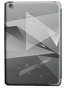 Abstract Geometric BW Polycarbonate Hard Case Cover for Apple iPad/iPad Mini 3D