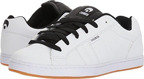 Osiris Men's Loot Skate Shoe, White/Black/Gum, 10 M (Osiris White Shoes)