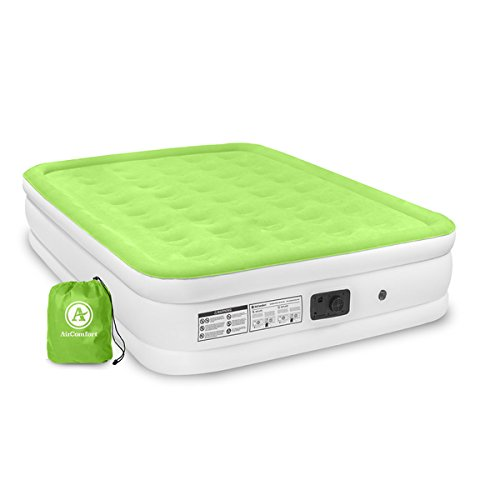 Price comparison product image Air Comfort Dream Easy PVC Queen-size Raised Air Mattress, Powerful Built-In Pump | Features a Retractable Power Cord