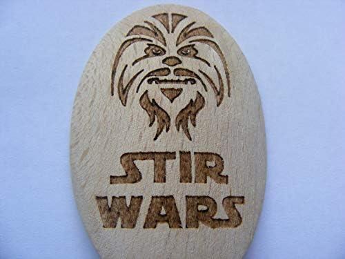 Cuill/ère de cuisine en bois inspir/é Star Wars fan DARTH VADER