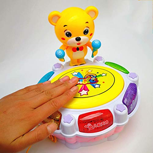 LIPENG-TOY Children's Music Bear Dance Drum Baby Puzzle Early Education Pat Drum Can Be Charged with Microphone Parent-Child Interactive Toys (Color : Pink) by LIPENG-TOY (Image #2)