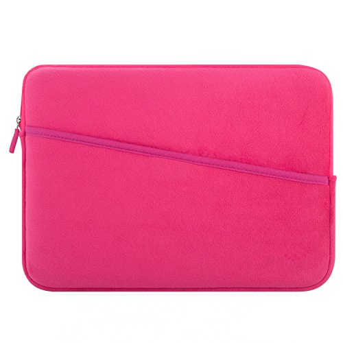 Laptop Sleeve KAOPU 13 - 13.3 Inch Protective Laptop Bag Case for MacBook Air & MacBook Pro 2016/2017, MacBook Pro Retina Late 2012, 12.9 inch iPad Pro 2017, HP, Dell, Asus, Acer (Rose Red)