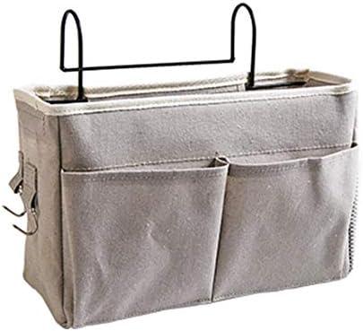 ベッド サイド 収納ポケット ポケット テーブル整理 小物収納 吊り下げ式 リモコンラック 収納,グレー