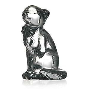 """Estatua, figurina de cristal, colección """"CARS"""", satinado, GATO GRANDE, 15 cm (GERMAN CRYSTAL powered by CRISTALICA)"""