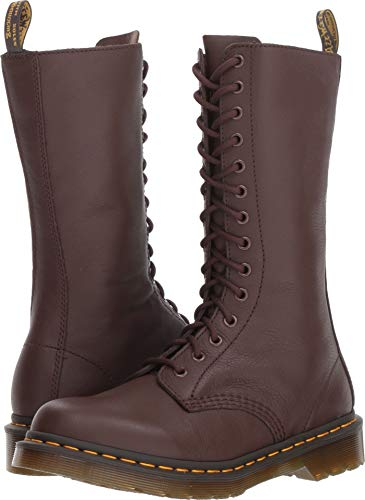 Dr. Martens Women's 1B99 14-Eye Zip Boot Dark Brown Virginia 7 M UK