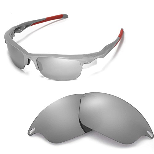 7aa8f4301cd34 Walleva Replacement Lenses for Oakley Fast Jacket Sunglasses - Multiple  Options Available (Titanium Mirror Coated