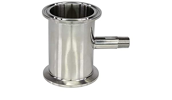 BVV 4 Inch Tri-Clamp Topcap with Valve and 1//4 37 Degree JIC Flare