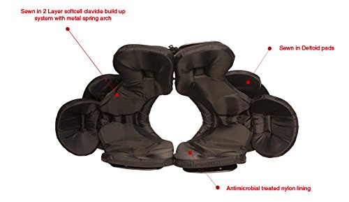 TAG Battle Gear II Intermediate Football Shoulder Pad TSP105 (Buckle Side Strap) Small by TAG (Image #3)