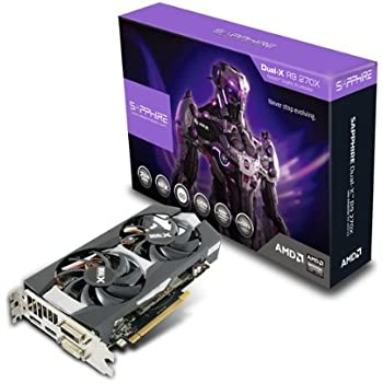 Sapphire Radeon R9 270X 2GB GDDR5 DVI-I/DVI-D/HDMI/DP Dual-X with Boost and OC Version PCI-Express Graphics Card 11217-01-20G