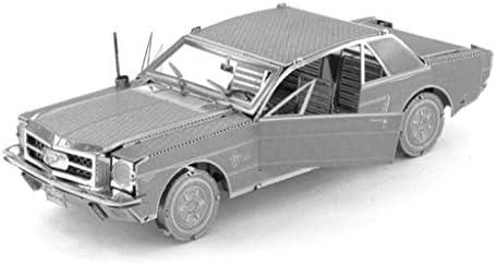 スポーツカー-3Dメタルモデルキットパズル(シルバー/マルチカラー) (Color : Silver)