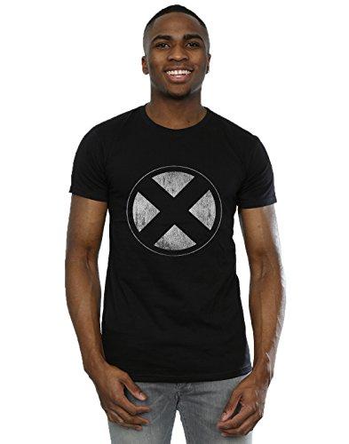 Distressed Emblem T-shirt - Marvel Men's X-Men Distressed Emblem T-Shirt Medium Black