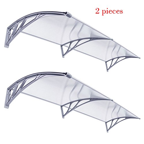40'' x 80'' Window Awning Door Canopy Polycarbonate Cover Outdoor Front Door Patio Sun Shetter Set of 2 by Nova Microdermabrasion