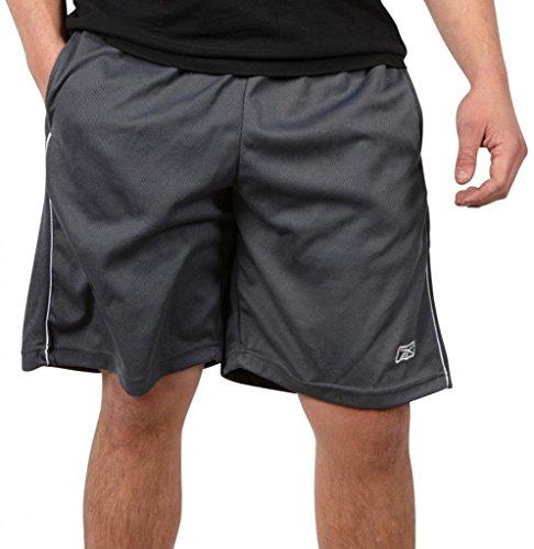 Reebok Drawstring Shorts (Reebok Men's Performance Basketball Shorts with Pockets (X-Large, Charcoal Gray))