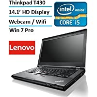 Lenovo Thinkpad T430 Built Laptop PC (Intel i5-3320M Processor, 4GB Memory, 120GB SSD, Wifi, Webcam, DVD, Win 7 Pro) (Certified Refurbished)
