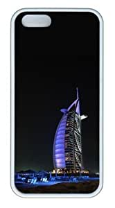 Burj al arab building TPU White customize iphone 5S case for Apple iPhone 5/5S